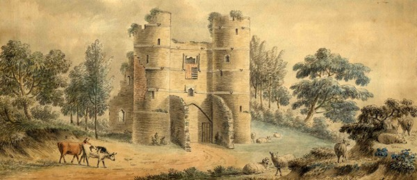 Donnington Castle, unsigned drawing, c. 1850