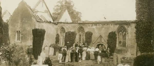 Wargrave Church after  the fire 1914