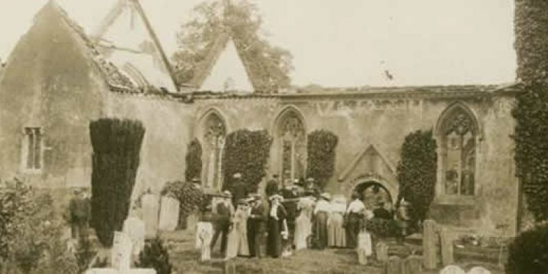 Image of Wargrave Church after the fire 1914