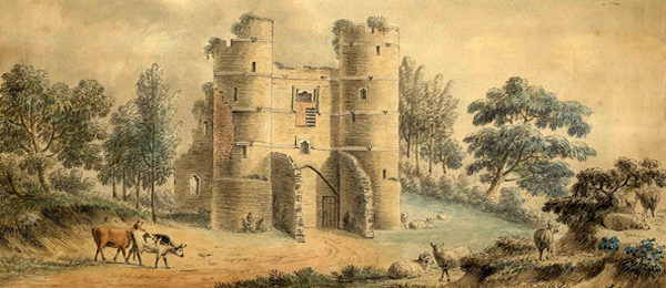 Image of Donnington Castle, unsigned drawing, c. 1850
